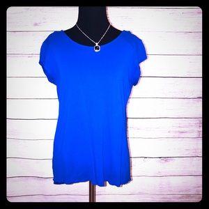 Zara Blue High Low Shirt Large